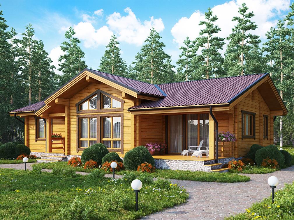 Дом из клееного бруса Каунас от компании «Дом Эксклюзив»
